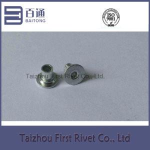 5X7.5mm White Zinc Color Flat Head Full Tubular Shoulder Rivet pictures & photos