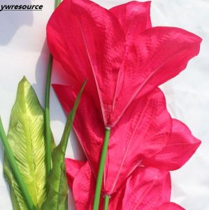 High Quality Silk Artificial Flowers Fake Lily for Home Wedding Decoration pictures & photos