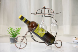 Tabletop Decorative Metal Single Bottle Wine Rack pictures & photos