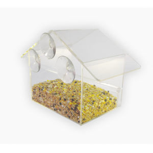 Window Suction Cup Clear Acrylic Bird Feeder pictures & photos