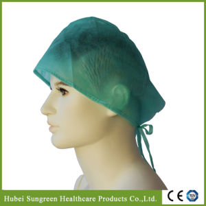 Disposable Non-Woven Doctor Cap with Ties pictures & photos