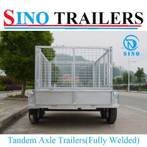 10X5 Galvanized Fully Welded 4-Wheels Box Cargo Trailers