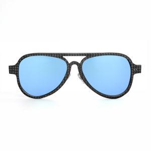 Fashionable Beauty Black Frame Various Colors Lenses Carbon Fiber Sunglasses pictures & photos