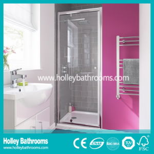 Hinged Square Shower House with Tempered Glass (SE916C)