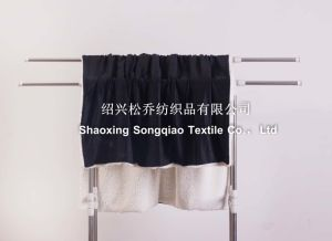 2017 Super-Soft Velour with Shu Velveteen Blanket / Sherpa Fleece Throw-Black pictures & photos