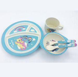 BPA Free Bamboo Fiber Dinnerware Set for Kids (YK-KS010) pictures & photos
