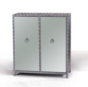 Marble White Wooden Cabinet with Metal Handle pictures & photos