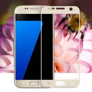 Silk-Screen Printing Full Covered Anti Scratch Screen Protector for Samsung S7