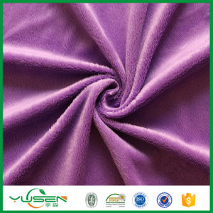 Warp Knitted Micro Poly Spun Velour Fabric pictures & photos