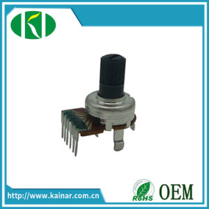 12mm Linear Carbon Rotary Potentiometer with 6 Pins Wh0122-1 pictures & photos