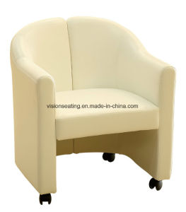 Removable Fabric Sofa Tub Chair with Castors (9301) pictures & photos