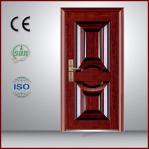 Cheap Price Powder Coating Steel Door with Brown Color Made in China pictures & photos