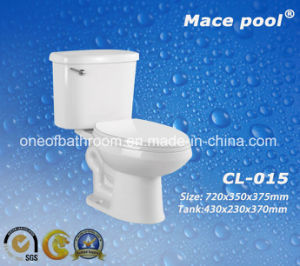 Competitive Ceramic Two-Piece Toilet for Bathroom (CL-015) pictures & photos
