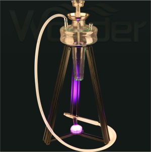 Glass Hookah with Iron Shelf and LED Light pictures & photos