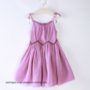 Kids Dress Girls Pleated Chiffon Skirt Cotton Princess Dress pictures & photos