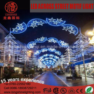 Excellent Design LED Burst Blue Star Shape Across Street Motif Light IP65 pictures & photos