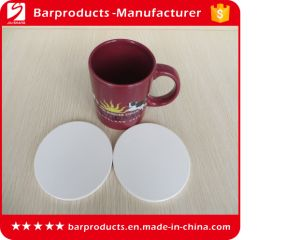 Custom White Blank Ceramic Coaster for Wholesale