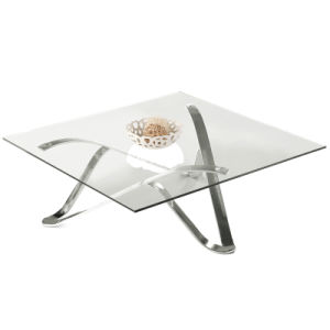 Stainless Steel Coffee Table Modern Coffee Table Glass Table Home Furniture (D103) pictures & photos