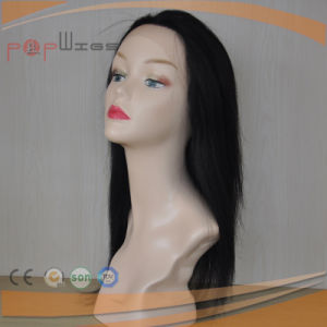 Human Remy Virgin Hair Black Color Hand Tied Lace Wig pictures & photos