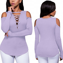 Fashion Women Casual Slim V-Neck Clothes T-Shirt Blouse pictures & photos