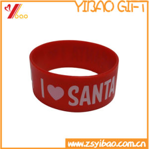 Custom Silicone Slap Wristband with Printing Logo (YB-LY-WR-44) pictures & photos