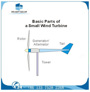 Multiple-Blade 12V/24V DC Permanent Magnet Pmg Horizontal Wind Turbine Generator pictures & photos
