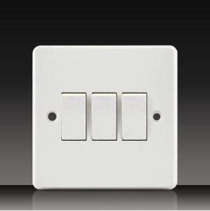 10A 250V 2 Gang 1 Way Wall Switch (CK21) pictures & photos