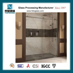 Frameless Corner Stall Backsplash Rectangular Glass Shower for Home and Hotel pictures & photos