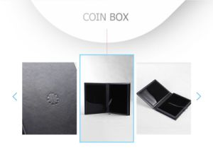 Modern High-Grade Durable Wooden Coin Gift Package Box pictures & photos