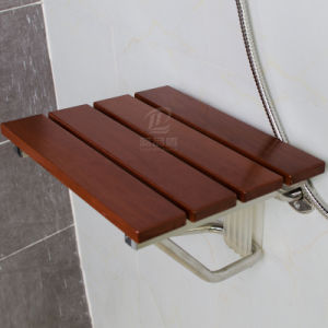 Solid Wooden Foldable Bathroom Shower Seat Commode Chair pictures & photos