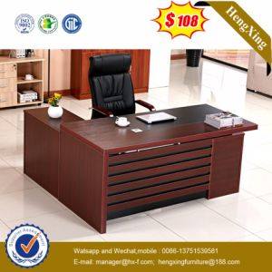 1.6m Melamine Lamianted Wooden L Shape Executive Office Table (HX-SD015) pictures & photos