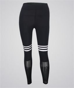 Women′s Hot Fashion Mesh Leggings with White Circles pictures & photos
