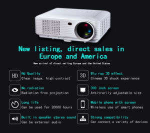Full HD 800p Support 1080P Portable Digital LED HD Projector/Proyector/Projector/Wall Image Projector with Nice Price pictures & photos