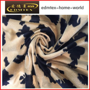 Animal Pattern Printed Velvet Fabric for Upholstery (EDM5079)