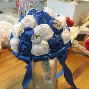 Crystal Satin Rose Wedding Bouquets Bridal Flower Bouquet pictures & photos