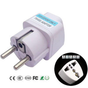 International Travel Universal AC Adapter Electrical Plug for UK Us EU Au to EU European Socket Converter White pictures & photos