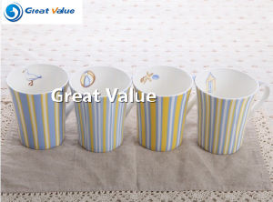 Factory Wholesale Customized Printed White Porcelain Mug pictures & photos