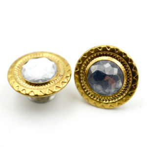 Custom Metal Jeans Button with Decorative Diamond pictures & photos