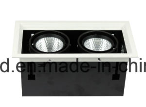 Doule Heads COB Square LED Grille Light Recessed LED Ceiling Grille Downlight 12W pictures & photos