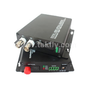 2 Channel Digital Fiber Optic Video Converter with RS485/422 Reverse Data pictures & photos