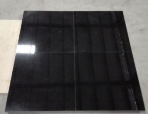 Absolute Heibei Black Granite Tiles for Wall Cladding Flooring pictures & photos