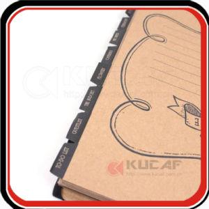 Custom Hot Foil Spiral Kraft Daily Planner Agenda pictures & photos