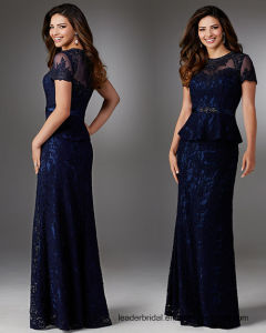 Lace Formal Gowns Blue Celebrity Party Evening Dress Z514 pictures & photos