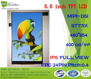 "5.0"" IPS 480*854 Mipi 24pin 400CD/M2 Full View TFT LCD Screen pictures & photos"
