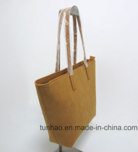 2017 New Simple Lady′s PU Leather Market Shopping Daily Totes pictures & photos