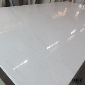 Kingkonree Sparkle White Artifical Quartz Stone for Kitchen Countertop pictures & photos