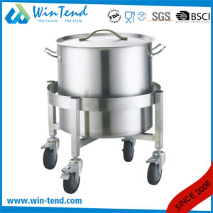 Manufactory Stainless Steel Stockpot and Dustbin Easy Transport Trolley with Wheels pictures & photos