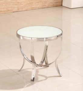 Factory Hotel Living Room Tempered Glass Stainless Steel Modern Coffee Table