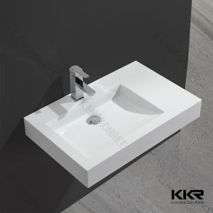 Hand Washing Sink Artificial Stone Bathroom Counter Top Basin pictures & photos