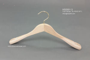 Branded Black Custom Wooden Suit Hangers with Nothes Wooden Clothes Hanger Hangers for Jeans pictures & photos